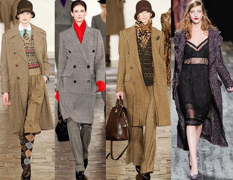 Фото - 1-3 пальто в клетку, клетка и пальто в мужском стиле Лорен...