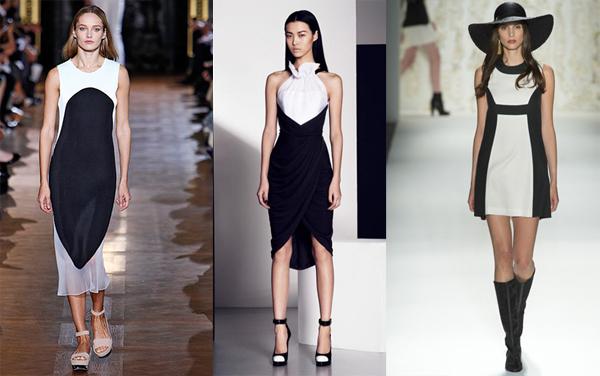 Маленькое черное белое платье